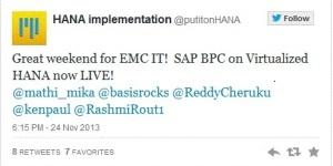 BPC on HANA EMC IT